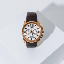Cartier Calibre de Cartier Chronograph Rose gold 42mm White Roman numerals