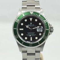Rolex Submariner Date Acero 40mm Verde Sin cifras