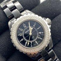 Chanel Céramique Quartz Noir Arabes 33mm occasion J12