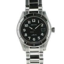 Zenith Sporto Steel 30mm Black Arabic numerals