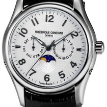 Frederique Constant Runabout Moonphase Steel 46.3mm Silver United States of America, New York, Brooklyn