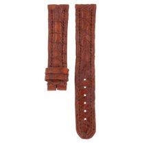Genuine Leather Hand Made Crocodile Brown Strap 18mm