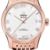 Omega De Ville Hour Vision Rose gold 41mm Silver Roman numerals