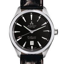 Atlantic new Automatic Display back Central seconds Luminous hands 42mm Steel Sapphire crystal