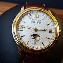 Blancpain Léman Moonphase Yellow gold 38mm White Roman numerals