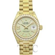 Rolex 279138RBR-0004 Oro amarillo Lady-Datejust 28mm nuevo