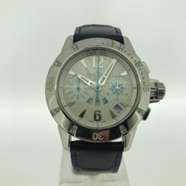 Jaeger-LeCoultre Steel Automatic Silver No numerals 38mm pre-owned Master Compressor Diving Chronograph