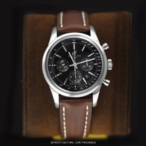 Breitling Transocean Chronograph pre-owned 43mm Black Chronograph Date Year Tachymeter Calf skin