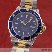 Rolex Submariner Date Or/Acier 40mm Bleu