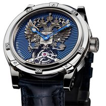 Louis Moinet White gold 47mm Manual winding LM-14.70 new