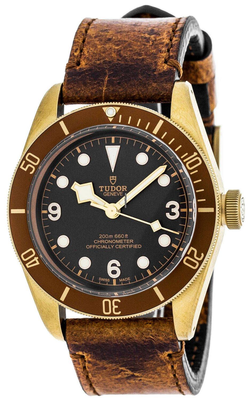 Heritage Black Auto Bronze Leather Aged Bay Watch Tudor v6yYbf7mIg