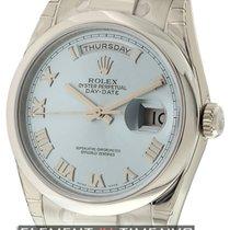 Rolex Day-Date President Platinum Ice Blue Roman Dial