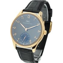 IWC IW545406 Portuguese in Rose Gold - On Black Alligator...