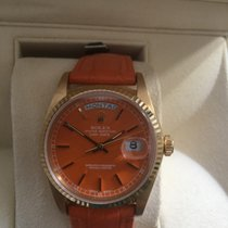 Rolex Day-Date Yellow gold 36mm Orange Arabic numerals