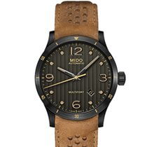 Mido Multifort Grey / Brown Leather Analog Automatic Men's Watch
