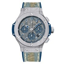 Hublot Big Bang Jeans 44mm Automatic Stainless Steel Mens...