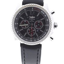 Breitling Bentley Barnato Black Dial Leather Strap A4139024/BC83