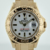Rolex Yacht-Master  Ref 169628,  18K Gold  White Dial, Box, 29mm