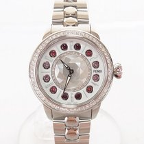 Fendi Eye Shine Diamond Bezel Shell Dial Gemstone F1210