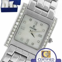 Concord White gold Quartz Mother of pearl Roman numerals 25mm pre-owned
