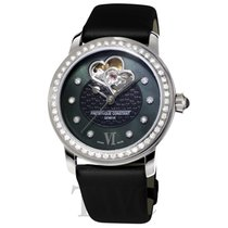 Frederique Constant Ladies Automatic Double Heart Beat Steel 34mm Transparent