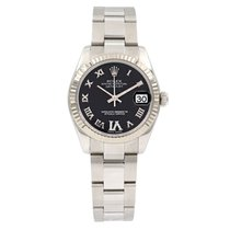 Rolex Lady-Datejust Steel 31mm Black Roman numerals