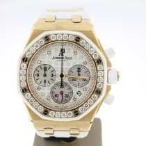 Audemars Piguet Royal Oak Offshore Lady Roségoud 37mm Parelmoer Geen cijfers