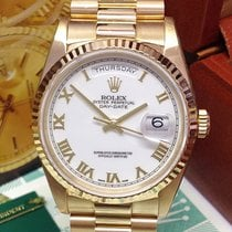 Rolex Day-Date 36 подержанные 36mm Белый Дата Индикатор дней недели Жёлтое золото