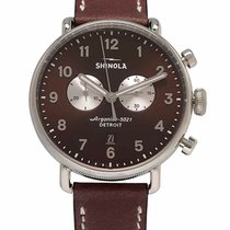 Shinola Steel 43mm Quartz S0120044136 new
