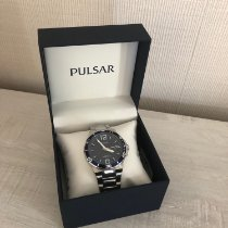 Pulsar Steel 43mm Quartz Montre Homme Pulsar Sport Acier - PS9399X1 pre-owned