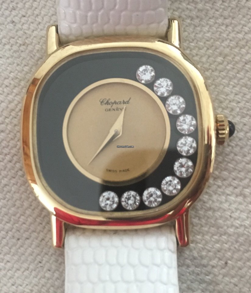 damen chopard gold uhr 750 diamanten