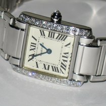 Cartier Tank Française pre-owned 25mm Silver White gold