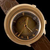 Bulova Accutron II Yellow gold 39mm Brown