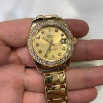 Rolex Pearlmaster Zuto zlato Boja šampanjca