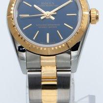 Rolex Oyster Perpetual Arany/Acél 24mm Kék