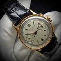Patek Philippe Chronograph Oro amarillo 33mm Plata (maciza) Arábigos