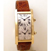 Cartier | Tank Cintree Double Time Zone 18kt yellow gold