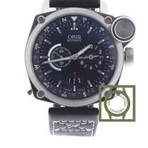 Oris BC4 Flight Timer 42.7mm Black Dial GMT NEW
