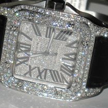 Cartier Santos 100 Steel 38mm Silver Roman numerals United States of America, New York, NEW YORK CITY