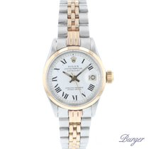Rolex Oyster Perpetual Lady Date Gold/Steel 26mm White Roman numerals