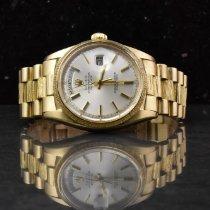 Rolex Day-Date Żółte złoto 36mm Szampański Bez cyfr