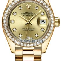 Rolex Lady Datejust 28mm Yellow Gold 279138RBR Champagne...