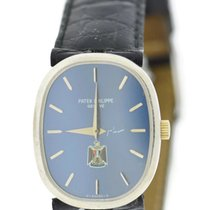 Patek Philippe Ellipse Iraqi Eagle Blue Dial 18K White Gold