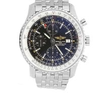 Breitling Navitimer World Black Dial Full Steel
