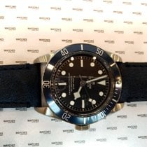 Tudor Heritage Black Bay Leather Blue Bezel - 79230B