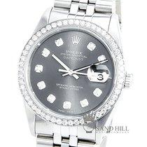 Rolex Datejust 16233 Sapphire Blue Diamond Dial 1CT Diamond Bezel