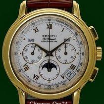 Zenith Chronomaster El Primero Moon 18k Porcelain Dial Box&Papers