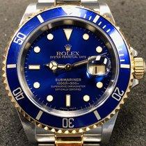 Rolex Submariner Date Acier 40mm Bleu