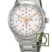 IWC Ingenieur Chronograph Automatic Steel White Dial Steel...