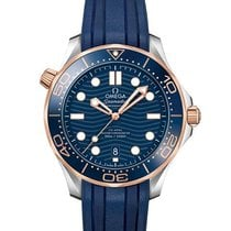 Omega Seamaster Diver 300 M Gold/Steel 42mm Blue No numerals United States of America, Iowa, Des Moines
